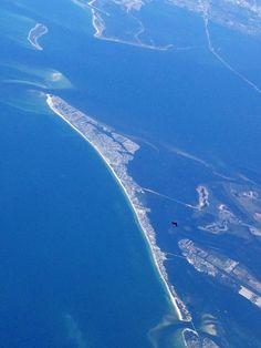 Anna Maria Island Aerial from an airplane!