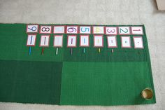 Short Bead Stairs cards and beads matching game.