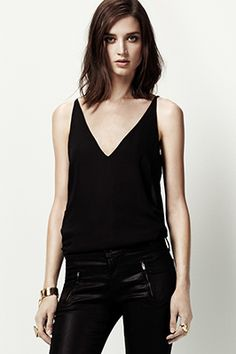 @J BRAND Lucy Camisole in Black