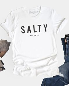 Cool Tees, Cute Shirts, Funny Shirts, Sassy Shirts, Sarcastic Shirts, Mom Shirts, Outfit Jeans, Christian Shirts, Christian Clothing