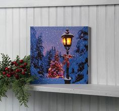 Radiance Lighted Canvas Lighted Lamp Post Canvas