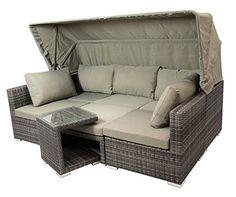 Gartenmöbel Set Como 6 Tisch Ausziehbar Holzdekor Mit 6 Sessel Rattan  Polyrattan Geflecht | Outdoor | Pinterest