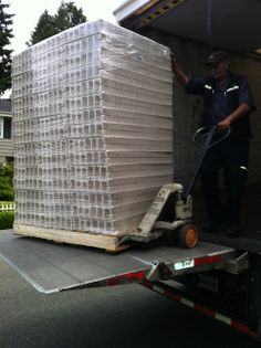 Our first shipment of compressed pulp, recycled and recyclable insert trays.