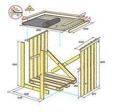 Tämä puukatos ei vaadi rakennuslupaa, koska se on siirrettävä rakennelma. Pohjana on kuormalava, jonka päälle katos on rakennettu. Kaksi miestä siirtää katoksen helposti, ja jos olet yksin, onnistuu siirtäminen nokkakärryn avulla. Jos haluat, että katos seisoo erillään eikä seinää vasten, voi takaseinän rakentaa samalla tavalla kuin päädyt. Ristikkäiset laudat vaaditaan silti päätyjen vakauden vuoksi. Näitä tarvitset: -kuormalava 80x120 cm -ulkoverhouslautaa 22x120 mm, n. 26,5 m: 10 kpl à…