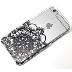 Black Lower Flower Henna Mandala Style Phone Case iPhone 6, 6 Plus, 5, 5C, 5S, Galaxy S4, S5, S6, Note 4