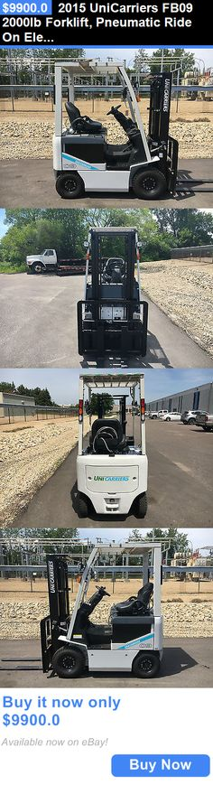 heavy equipment: 2015 Unicarriers Fb09 2000Lb Forklift, Pneumatic Ride On Electric BUY IT NOW ONLY: $9900.0