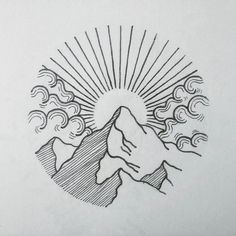 Image result for sea mountain drawing (Try Illustration)
