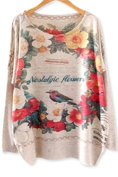 Nostalgic Garland Batwing-Sleeves SweaterOASAP Giveaway, 10 pieces per day, till the end of 2014! Easiest way to get free clothing!