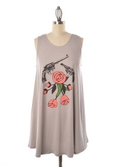 ALL SALE ITEMS FINAL...CANNOT BE RETURNED or EXCHANGED Back In Stock! This Judith March Guns and Roses printed dress was a fan favorite the first time it arrived. Order yours today while it's still in