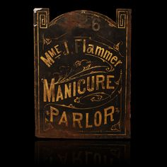antique trade signs | ... Manicure Parlor – Vintage Trade Sign