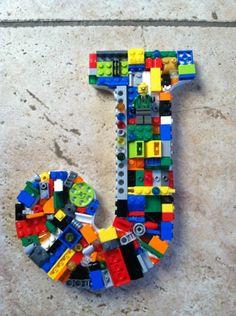 Custom wall letter toy bricks rainbow letter by MosaicTreasureBox, - LEGO© Decor and letters - Legos, Deco Lego, Lego Letters, Diy And Crafts, Crafts For Kids, Lego Bedroom, Lego Craft, Minecraft Crafts, Deco Originale