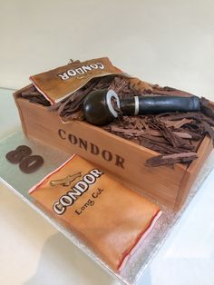 80th 'tobacco pipe' cake