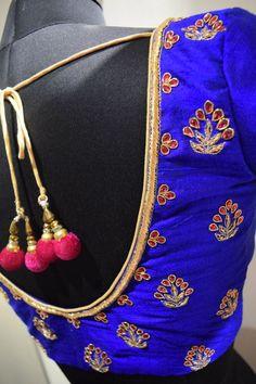 Simple Blouse Designs, Sari Blouse Designs, Blouse Patterns, Hand Work Design, Saree Jewellery, Maggam Work Designs, Blouse Models, Work Blouse, Maggam Works