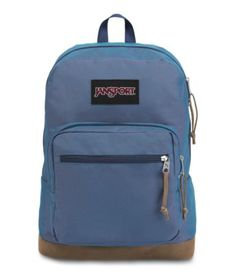 With its signature suede leather bottom, the JanSport Right Pack is the iconic backpack. With an internal 15 inch laptop sleeve and front organizer pocket, the Right Pack is sure to be the best backpack for wherever your day takes you. Mochila Jansport, Jansport Backpack, Laptop Backpack, Black Backpack, Backpack Bags, Leather Backpack, Stylish Backpacks, Cool Backpacks, College Backpacks