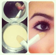 So so many people ask how do I keep my eyeliner from moving smudging ect.  Well here is a MAKEUP TIP!!!    All you need is ur makeup powder and a concealer brush!!    After putting on your primer and concealer use ur shade of powder or a shade lighter to highlight and press/swipe underneath your eye!!    And BOOM!!! ;D