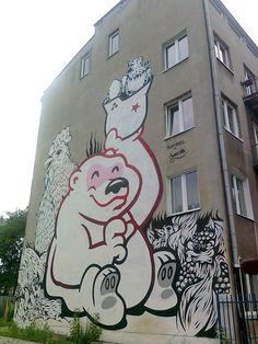 """Bielany / Warsaw - """"Bielański zwierzyniec, czyli bears are everywhere"""", thanks to Artur Wojtczak - https://www.facebook.com/photo.php?fbid=4176366049131=a.1095727595095.2016782.1283749446=1"""