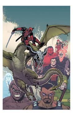 Deadpool - Dracula's Gauntlet by Reilly Brown *