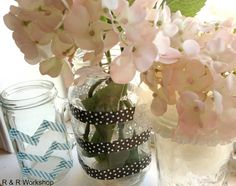 Mason Jar Decorated With Washi Tape