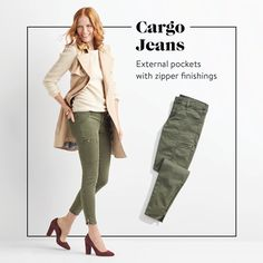 I like the color and detail on these cargo jeans, perhaps a pair with a looser fit or a size up would be more my style.