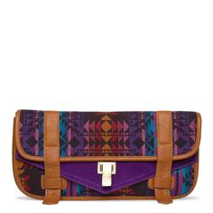 Aztec Printed Fall Clutch.