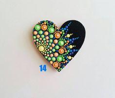 Mandala DOT Art Hearts imanes DOT pintura refrigerador | Etsy