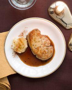 Foie gras chaud, confit pommes-pommes de terre pour 4 personnes - Recettes - Elle
