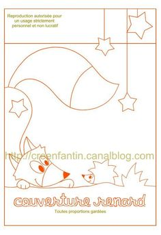 Fox and hedge hog would make a super cute quilt panel