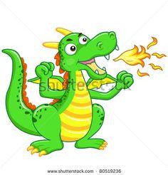 The green dragon cartoon