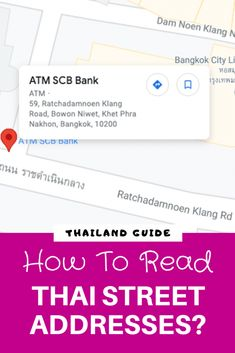 How To Read Thai Street Addresses? In #Thailand, the first thing you do is get the address of your hotel or you want to visit a local landmark or museum. And then the #Thai #street #addresses seem to make no sense. Let us explore this! Thailand Shopping, Thailand Travel, Thailand Destinations, Let It Be, Street, Reading, Reading Books, Walkway