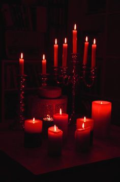 Need to source red candles Red Candles, Candle Lanterns, Scented Candles, Photo Bougie, Color Splash, I See Red, Arte Obscura, Light In, Red Rooms