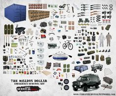 The Million Greenback Survival Package - City Survival Community. ** Find out even more by checking out the picture link Check more at  http://www.urbansurvivalnetwork.com/survival-gear/million-dollar-survival-kit/