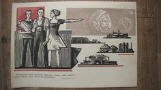 Original Soviet propaganda poster from 60s  Lenin  by RETROisIN