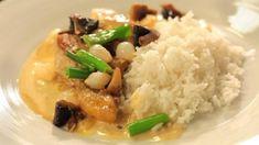 Kuře v krémové omáčce Chef Recipes, Creme, Grains, Meat, Chicken, Beef, Cooking Recipes, Korn, Cubs