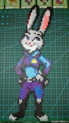Judy - Zootopia Perler Beads  People are just amazing