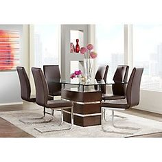 Tria Merlot 5 Pc Rectangle Dining Room .688.0.  Find affordable Dining Room Sets for your home that will complement the rest of your furniture.  #iSofa #roomstogo