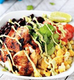 Grilled Tilapia Bowls with Chipotle Avocado Crema {Gluten Free} Grilled Tilapia, Grilled Cauliflower, Grilled Prawns, Grilled Halloumi, Cauliflower Recipes, Grilled Sandwich Recipe, Sandwich Recipes, Fish Recipes Healthy Tilapia, Make Ahead Breakfast Burritos