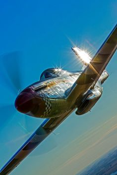 An admiration of the beauty of the classic warbirds. Ww2 Aircraft, Fighter Aircraft, Military Aircraft, Fighter Jets, Photo Avion, Airplane Art, P51 Mustang, Ww2 Planes, Aviation Art