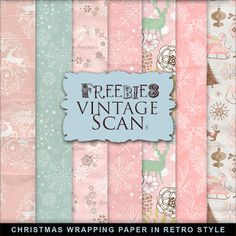 FREE Freebies Christmas Wrapping Paper in Retro Style By Far Far Hill
