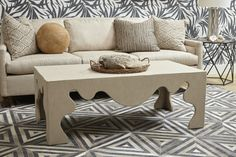 Allegra Sofa and Chip Rectangular ottoman