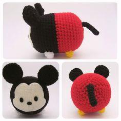 Mickey Mouse Tsum Tsum ~  #amigurumi #crafts #crochet #Disney #DIY #felt…