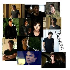 """Damon Salvatore*1"" by streetlion ❤ liked on Polyvore featuring art"