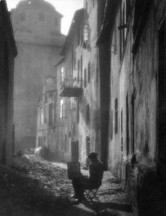 Edward Hartwig - Old street, Lublin, 1930.