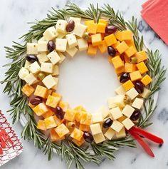 Ein essbarer Weihnachtskranz … ! Leckeres Essen in Form eines Weihnachtskranzes! - DIY Bastelideen