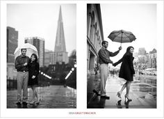 engagement photos rainy   Engagement photos of a couple in the rain in San Francisco taken by ...