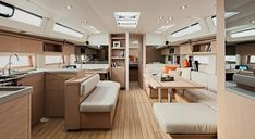Oceanis – Smart and Classy! Exquisite interior with large amount of natural light. Sailing Yachts, Boat Projects, Sailboats, Natural Light, Classy, Interior, Furniture, Home Decor, Decoration Home