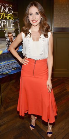 """Look of the Day - August 26, 2015 - Tastemaker Screening Of IFC Films' """"Sleeping With Other People"""" from InStyle.com"""