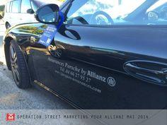 Opération street marketing pour Allianz mai 2014