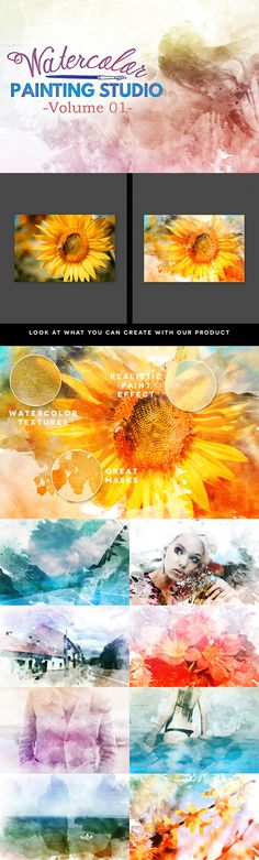This psd template will help you to convert your photos to awesome watercolor artworks just by few clicks! Unlimited number of end effects!
