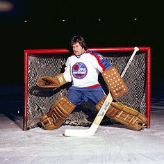 While we get closer and closer to the return of the Winnipeg Jets, we flashback to one of the original NHL Jets who didn't really make the c. Hockey Goalie, Hockey Games, Nhl Jets, Goalie Mask, Nfl Fans, Kicks, Sports, Classic, Closer