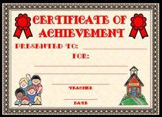 school awards templates